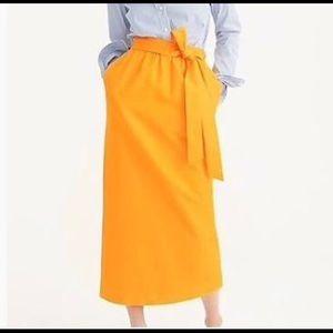 J.crew cotton/silk paper bag style skirt